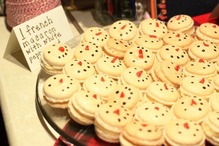 White Peppermint French Macaroon Christmas Cookie Best Overall