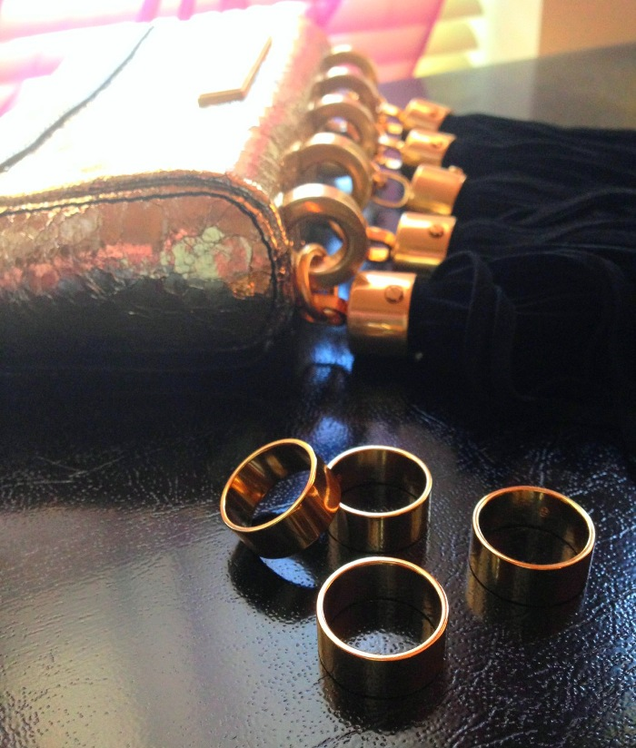 Gold Accessories Rings Zac Posen Clutch