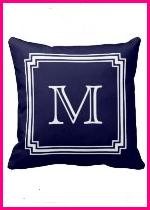 Monogrammed Zazzle Pillow