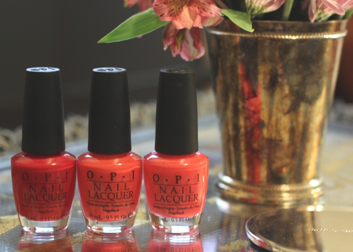 Must Have OPI Nail Colors Red Big Apple Red Cajun Shrimp My Chihuahua Bites
