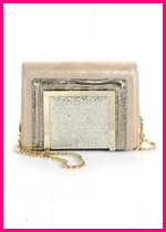 Jimmy Choo Ava Suede Sequin Clutch
