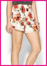 Haute Hippie Floral High Waited Shorts