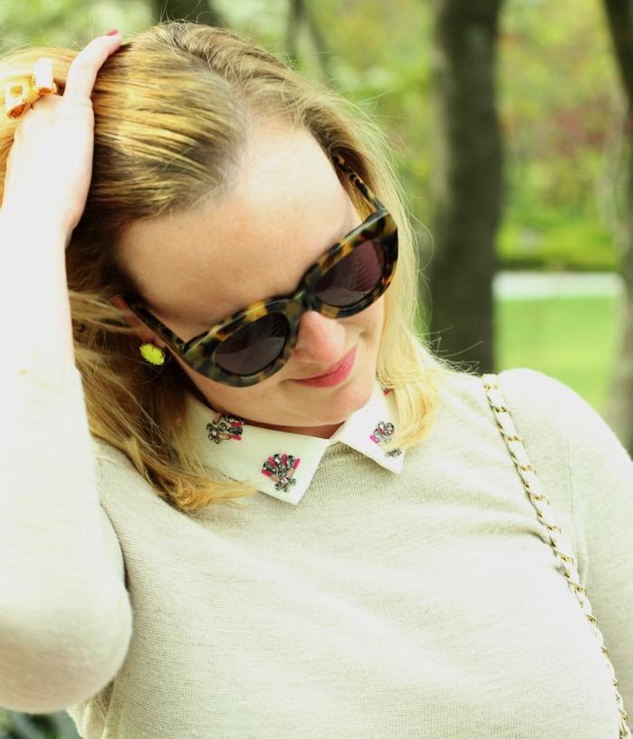 JCrew Jeweled Peter Pan Collar Sweater