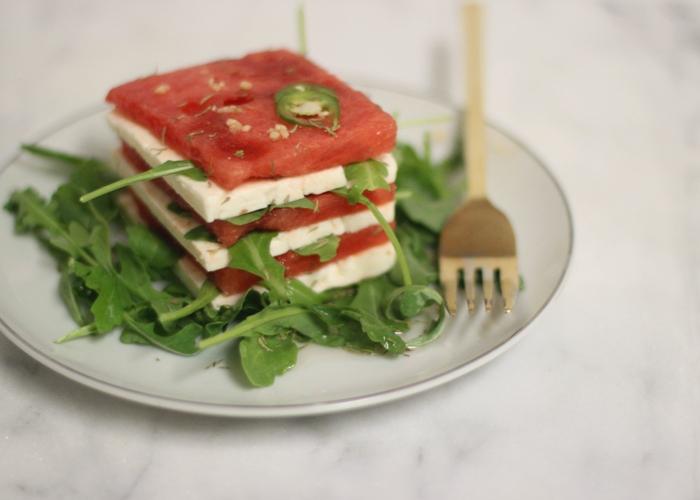 Watermelon & Feta Salad w/ Serrano Chile Vinaigrette Hugh Acheson