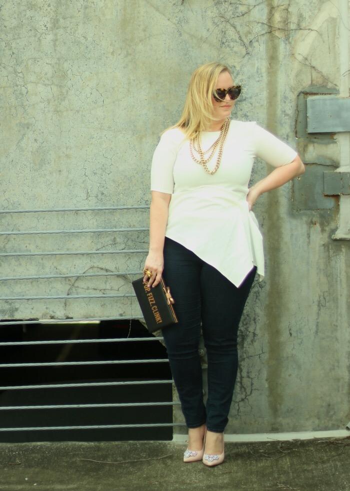 Asymmetrical White Blouse