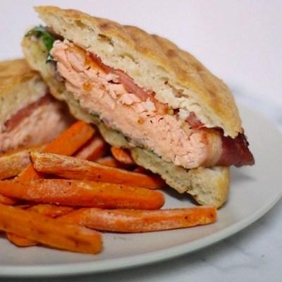 Salmon BLT w/ Carrot Fries