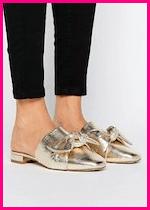 Summer 2017 Fashion Slide Mule Sandals ASOS Link Up Mule Ballet Flats