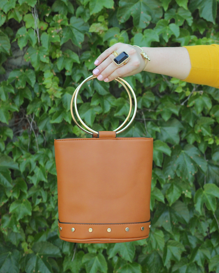 Target leather bucket Bag