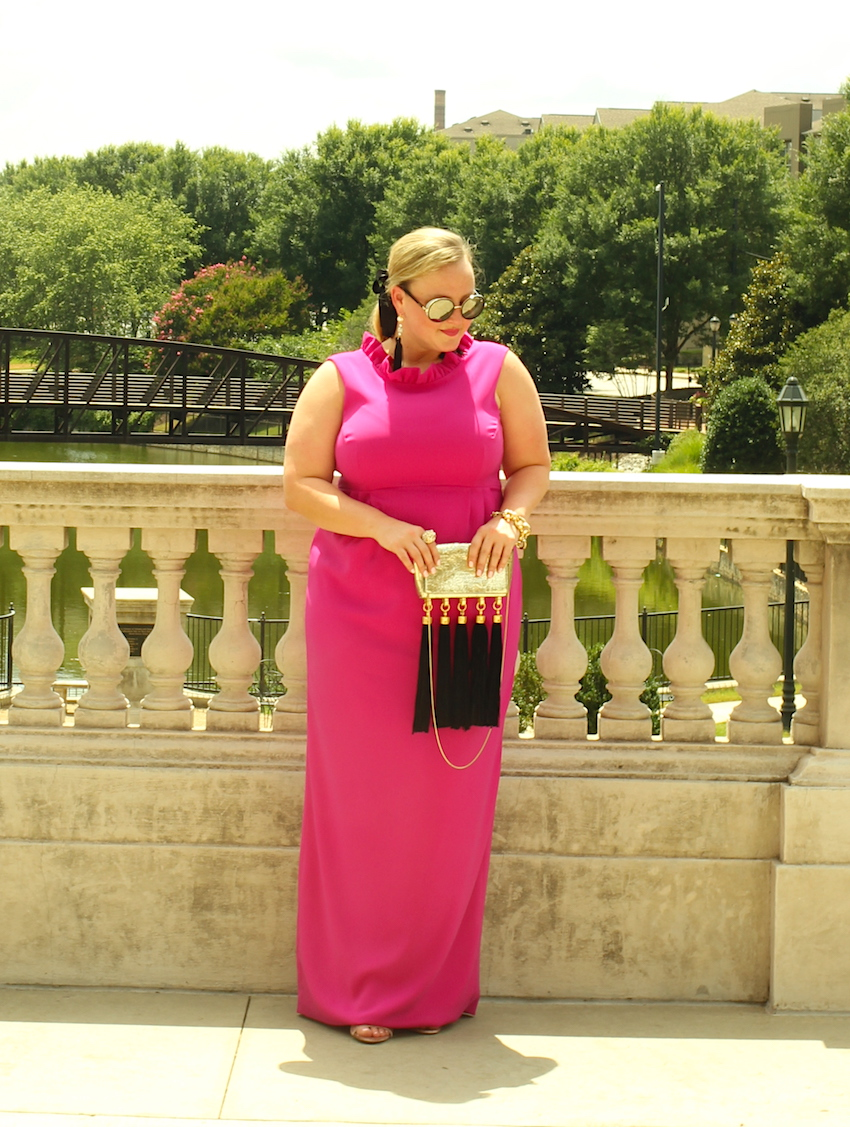 Camilyn Beth Go Go Gown in Fuschia Jenna Wessinger Just a Touch Too Much Atlanta Fashion Blog