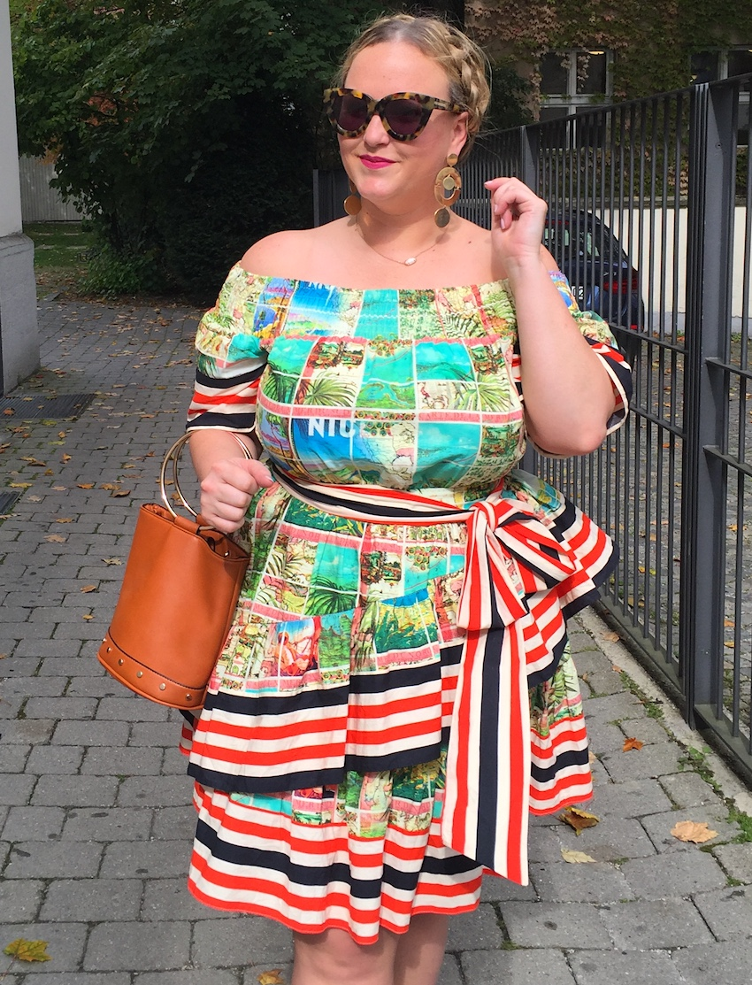 ASOS Postcard Print Dress Jenna Wessinger Just a Touch Too Much Fashion blog