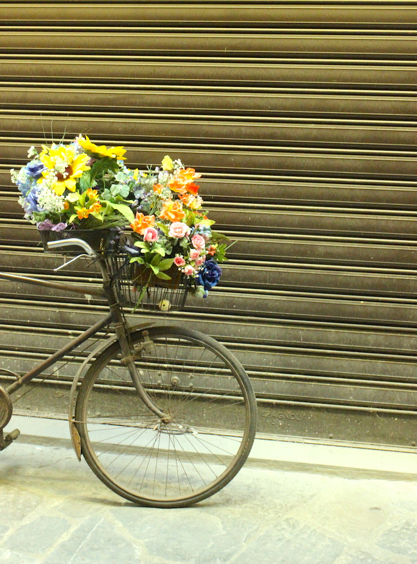 Flower Bike Florence Italy Jenna Wessinger Just a Touch Too Much