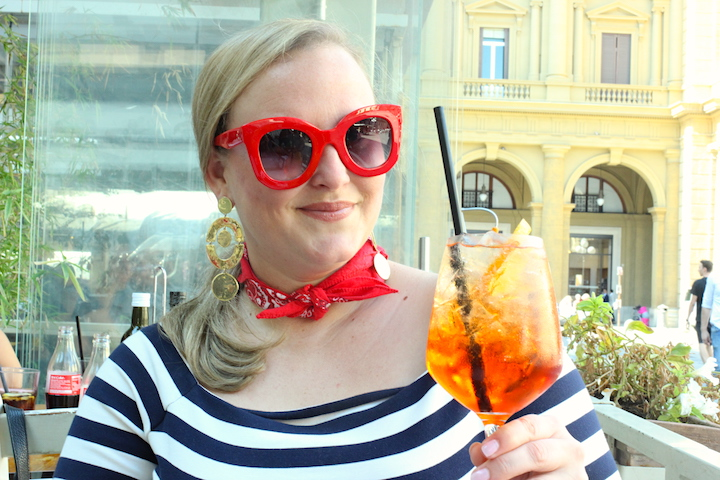 Travel Guide Two Blondes Florence Italy Jenna Wessinger Just a Touch Too Much Meggie Hulsey Disco Teepee Aperol Spritz Cocktail