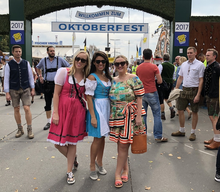 Travel Guide Two Blondes TMunich Germany Oktoberfest Jenna Wessinger Just a Touch Too Much Meggie Hulsey Disco Teepee