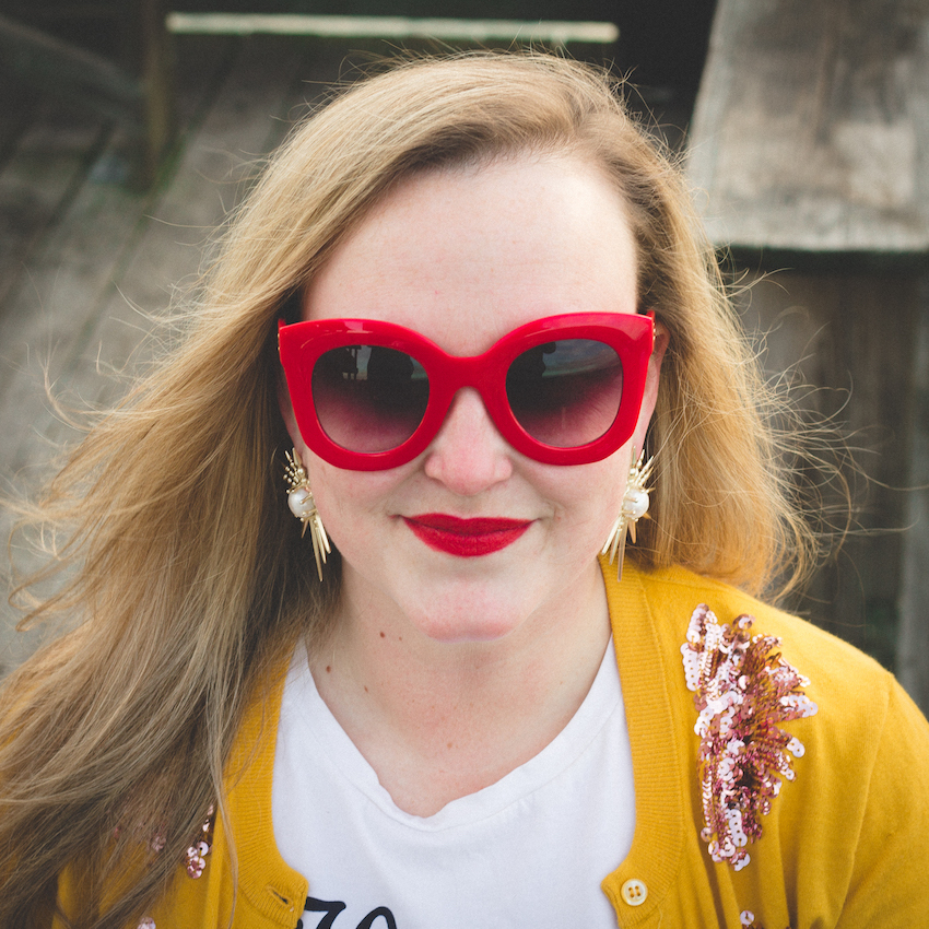 Amazon Red Sunglasses Jenna Wessinger Just a Touch Too Much Atlanta Charleston Fashion Outfit Blog