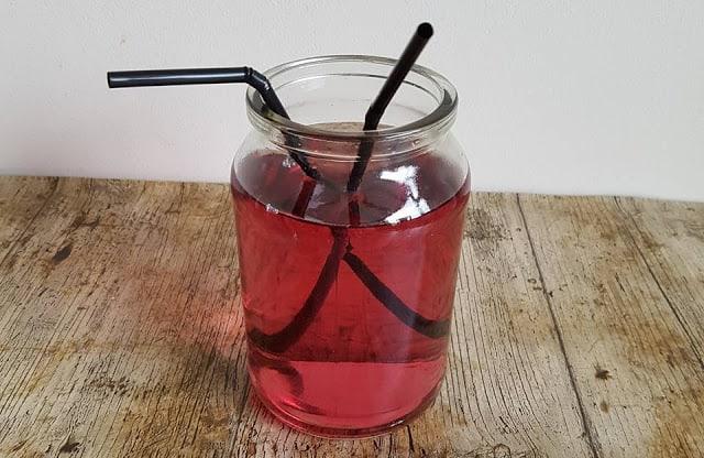 jam jar with squash in