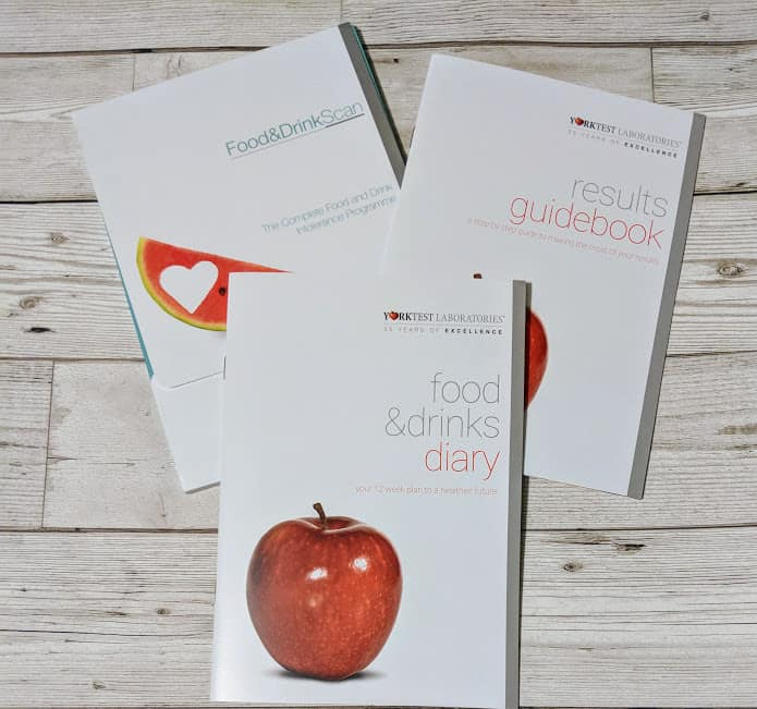 pack conatining food diary booklet and information about intolerances booklet for adults