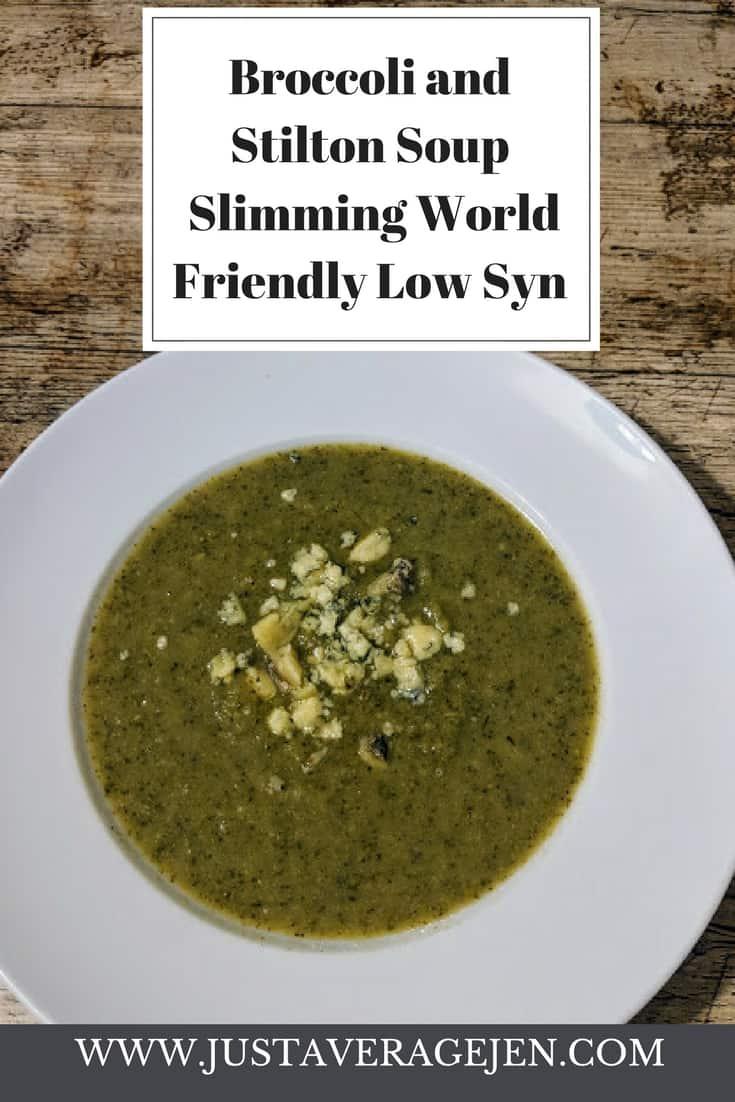 broccoli and stilton soup pin