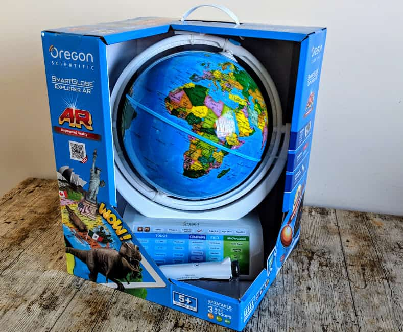 oregon scientific smart globe in box