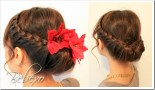 Holiday Lace Braided Updo Hairstyle