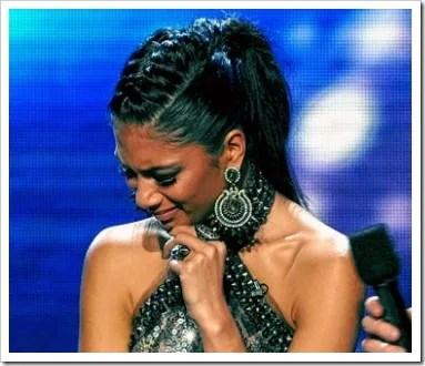 Nicole Scherzinger X Factor French Braid Ponytail