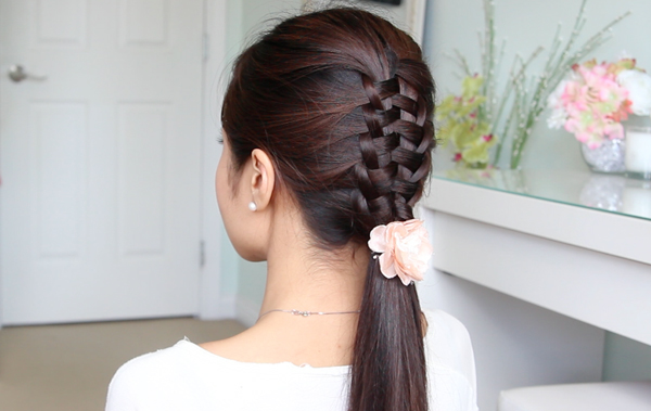 Zipper Braid Suspended Infiinity Braid Hairstyle