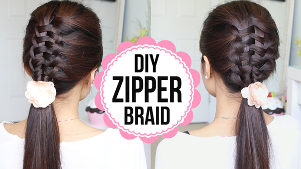 Zipper braid suspended infinity braid hair tutorial just bebexo zipper braid suspended infiinity braid hairstyle by bebexo solutioingenieria Gallery