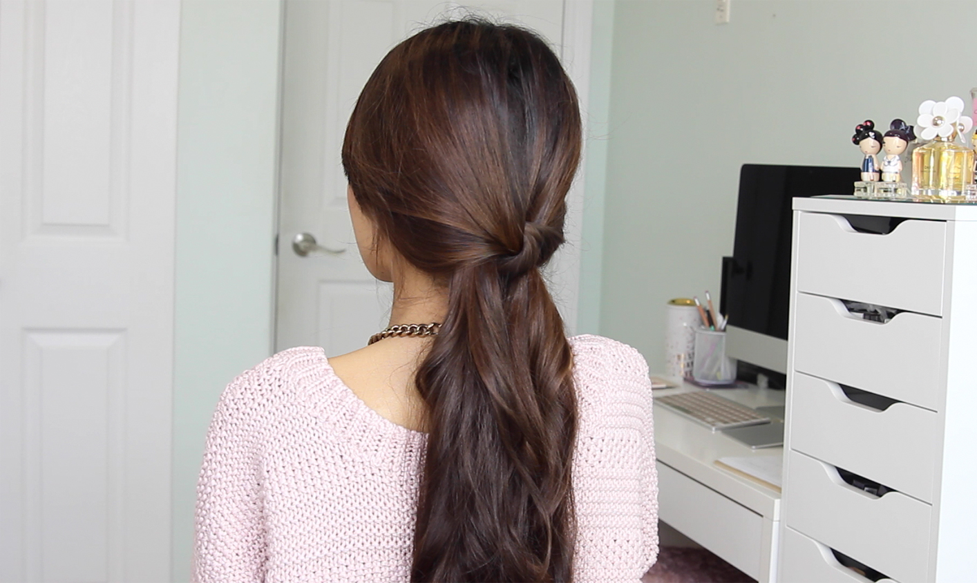 Image result for knotted ponytail