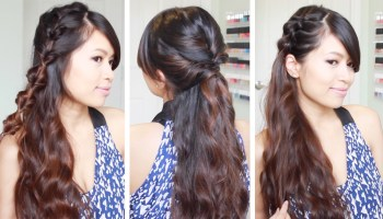 Fancy Looped Side Ponytail Hairstyle · Just Bebexo • A Lifestyle ...