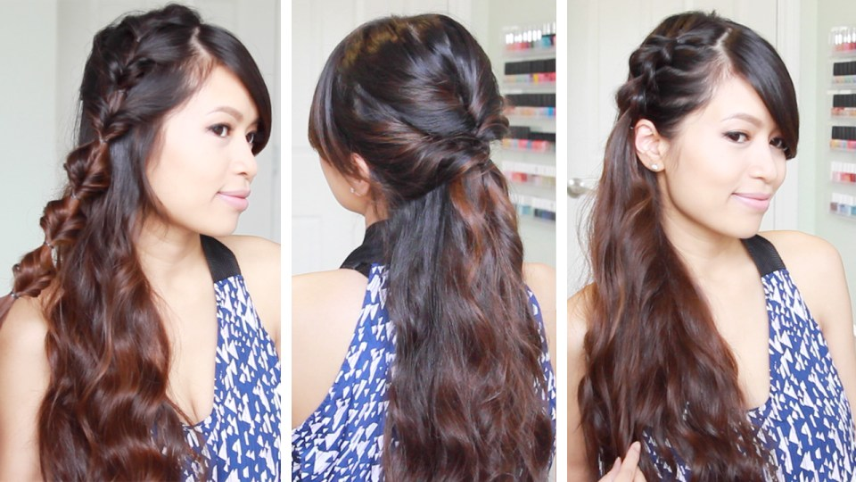 Quick and Easy Faux Braid Hairstyles