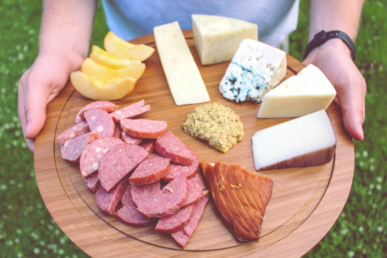 charcuterie meat cheese board 1