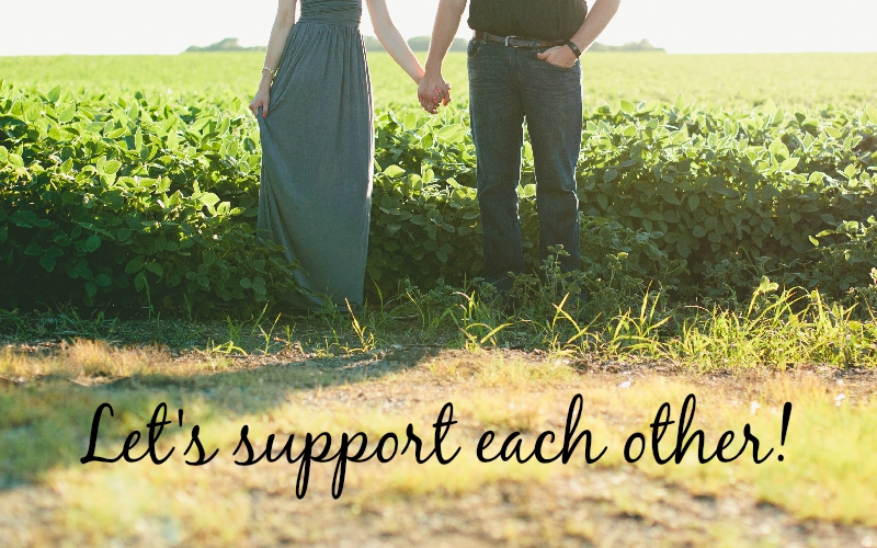 Let's support each other blogger collaboration image