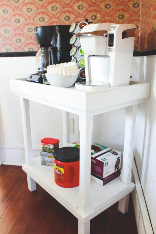 DIY Home Coffee Bar - make your own coffee station in your home! - Just Bee