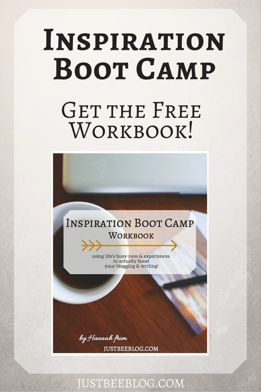 Get my blogging & writing inspiration workbook for free! - Just Bee