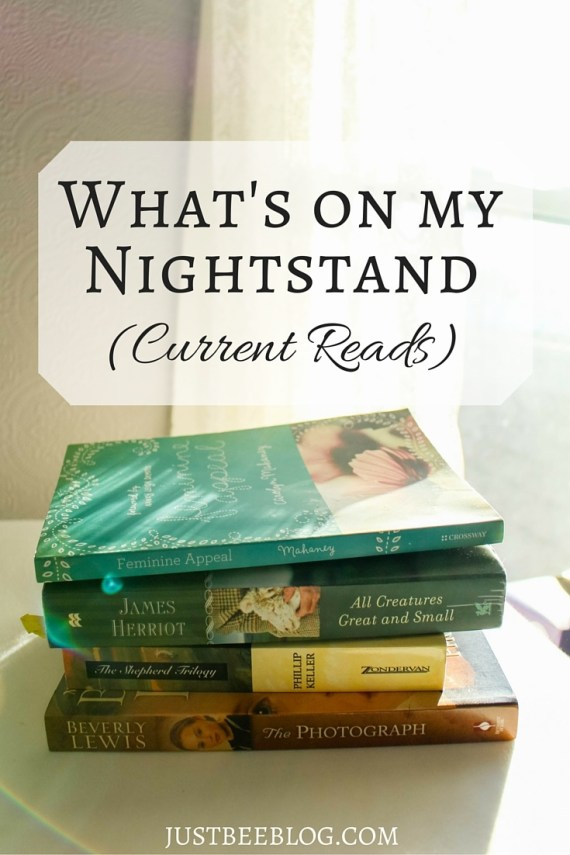 What's on my Nightstand- Current Reads. What are you reading this month? I'm sharing my current reads and book recommendations! - Just Bee Blog