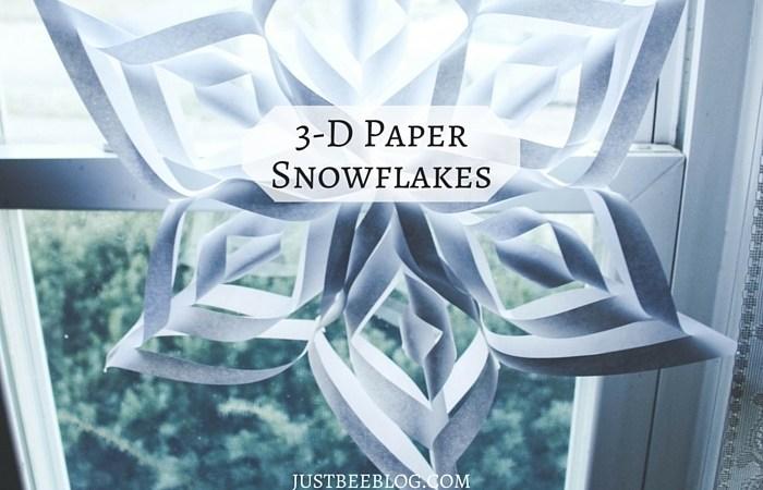 DIY 3-D Paper Snowflakes