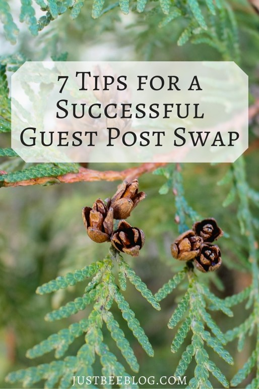 7 Tips for a Successful Guest Post Swap - blogging tricks and advice from Just Bee