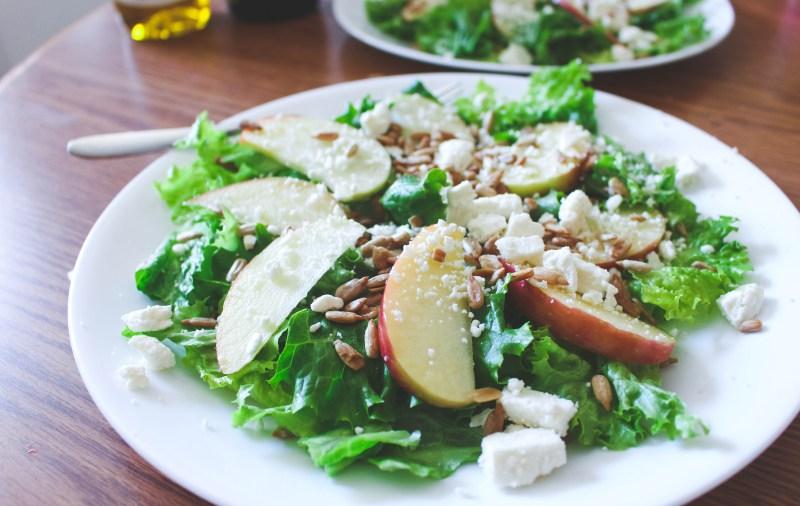 Apple Feta Salad Recipe - our new favorite salad!! Just Bee Blog