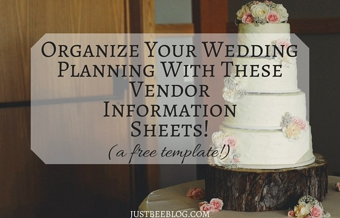Wedding Wednesday: Organizing Your Vendors