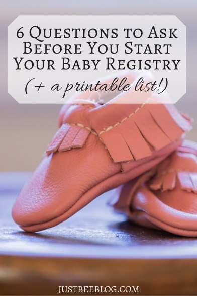 Starting Your Baby Registry- Just Bee Blog