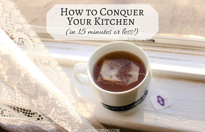 How to Conquer Your Kitchen in 15 Minutes (or less!)