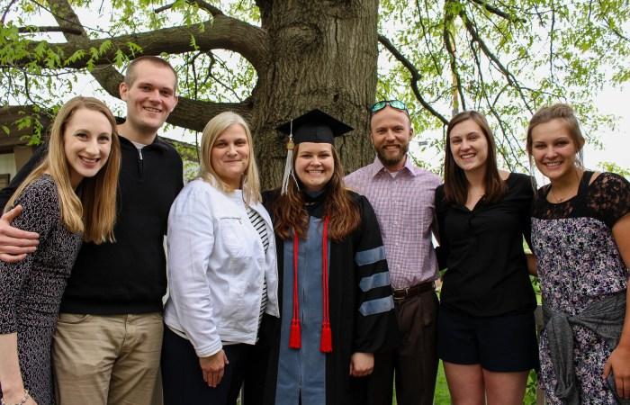 My sister-in-law's veterinary school graduation!