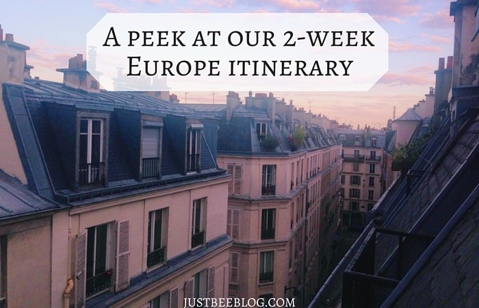 Our 2-Week Europe Itinerary
