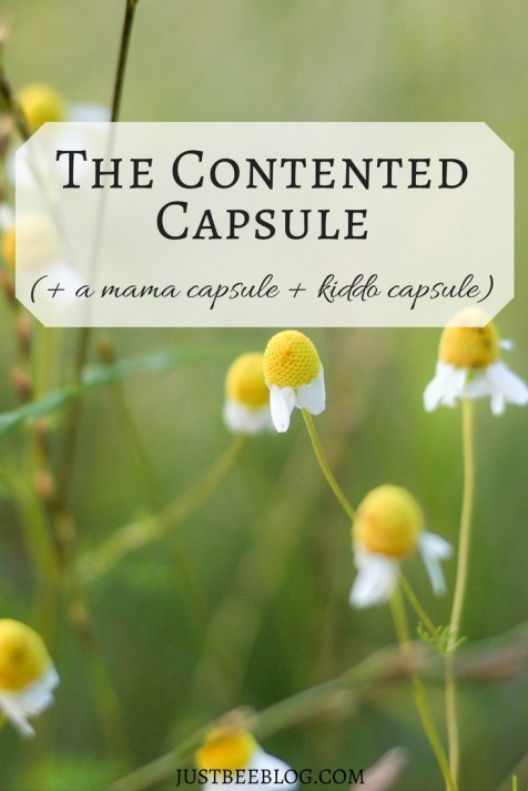 The Contented Capsule Wardrobe - Just Bee Blog