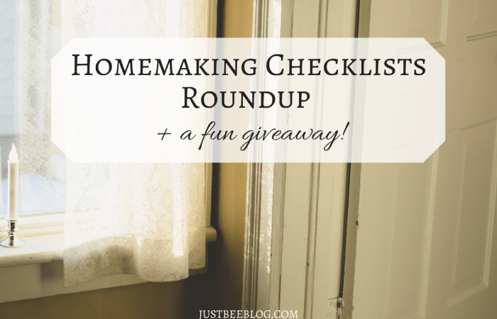 Homemaking Checklists Roundup (+ a Giveaway!)