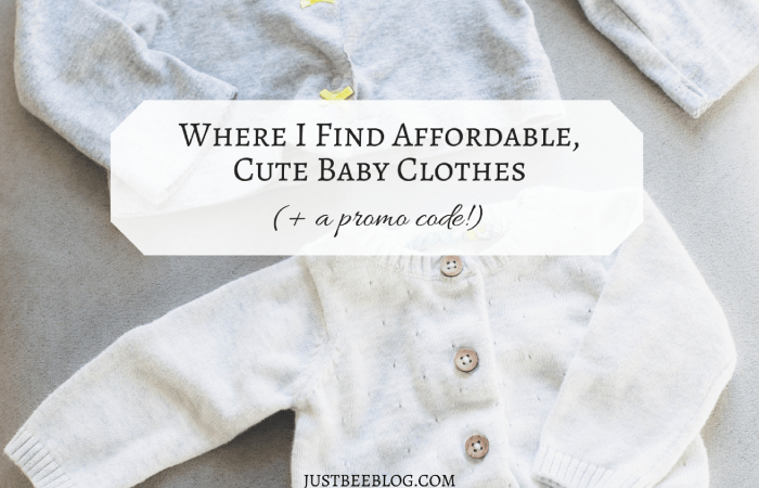 Where I Find Affordable, Cute Baby Clothes (+ a promo code!)