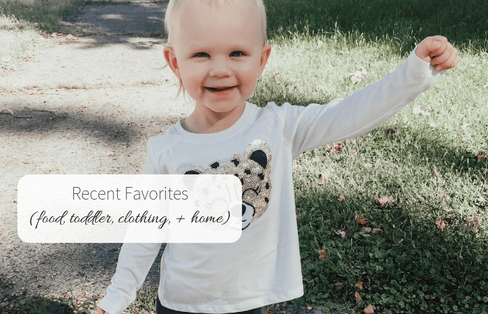 Recent Favorites (food, toddler, clothing, + home)