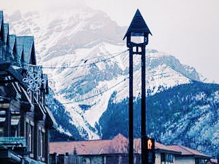 A quick stop in Banff