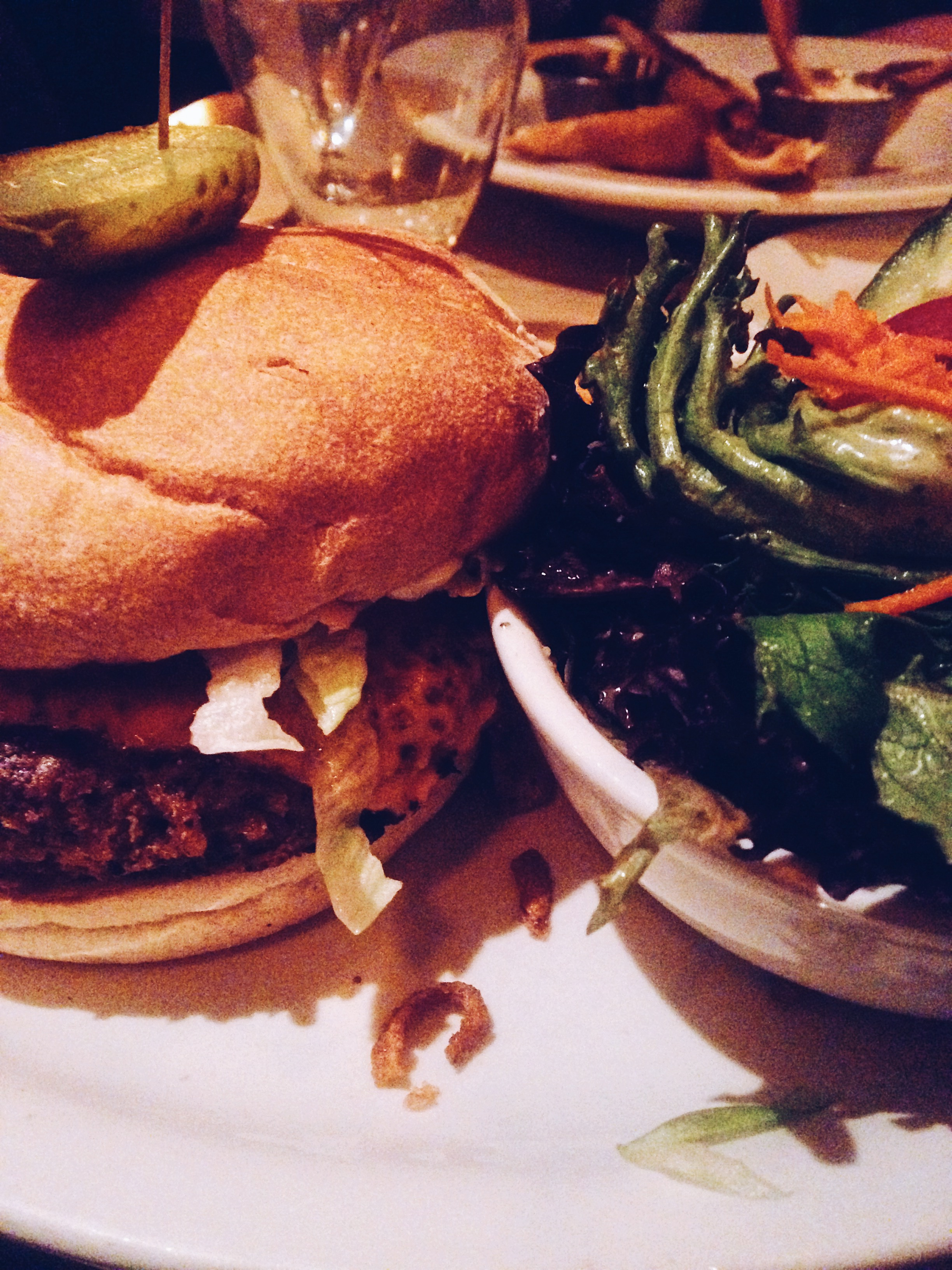 Veggie burgers at Biercraft. Vancouver. Canada. Restaurant Review