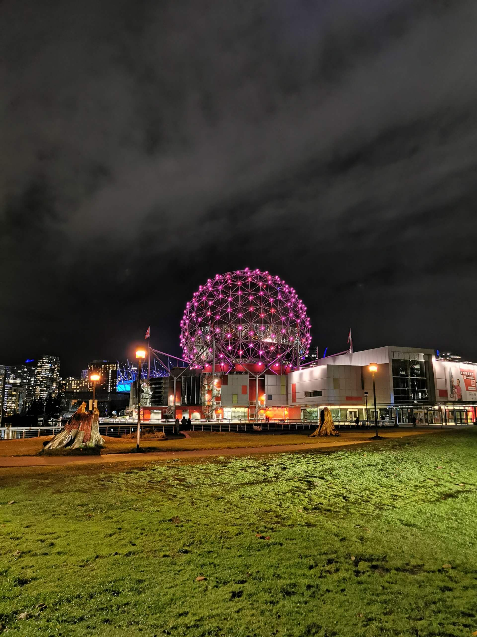 Science World lit up at night. JBB MONTHLY RECAP NOVEMBER 2020