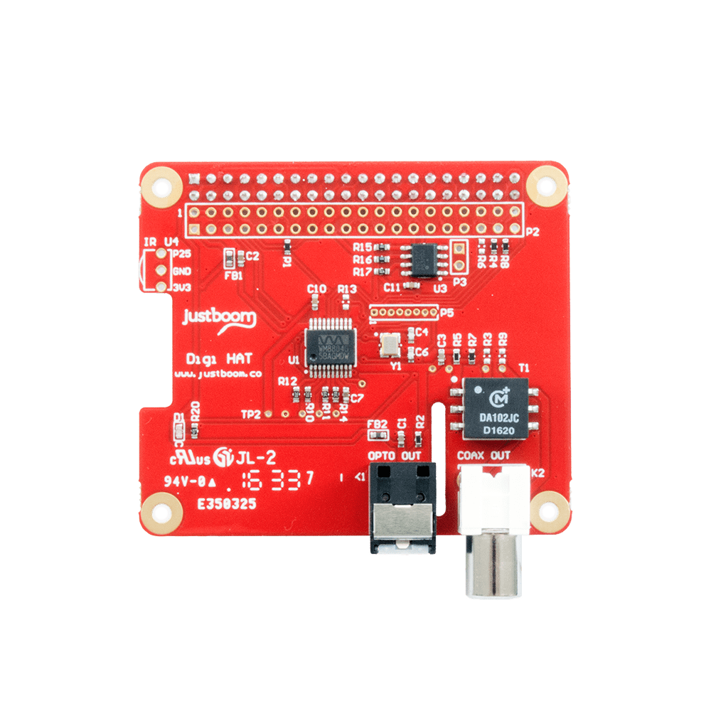 JustBoom Digi HAT for the Raspberry Pi • JustBoom